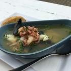 Foto zu Sylter Muschelbude: 17.8.19 / Fischsuppe gut!