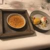 Joghurtmousse / mango / passionsfrucht / apfelblüte