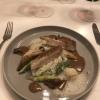 Schwarzfederhuhn / morchel / cognacrahm / spargelrisotto