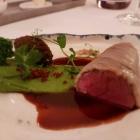 Foto zu Restaurant Weinhaus Uhle: Wildschwein, Speckstippe, Erbspüree