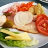 Räucherforellenfilet mit Salatgarnitur