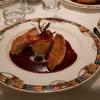 Brust  vom Maishuhn, Traubensauce, Kartoffel-Sauerkrauttörtchen