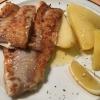 Rotbarsch vom Grill mit Butterkartoffeln und Salat (8,60€