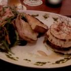 Foto zu La Vigna im Weingut Marienhof: La Vigna Ziegenkäse aus dem Ofen mit marinierten Tomaten und Salatbouqet