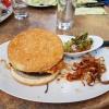 Burger mit ohne Zwiebel