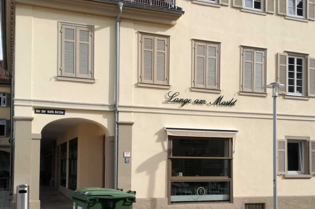 lange am markt restaurant in 71634 ludwigsburg. Black Bedroom Furniture Sets. Home Design Ideas