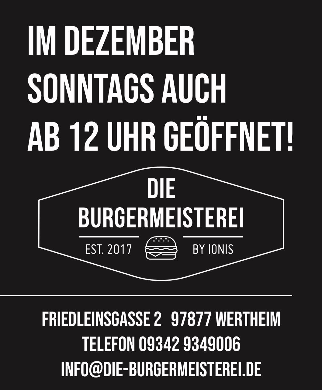 Bild zur Nachricht von Die Burgermeisterei Wertheim