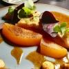 Entenbrust, Pfifferlinge, Melone, Gewürzmajonäse