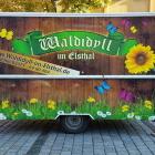 Foto zu Waldidyll im Elsthal: Bierwagen 2019