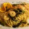 Spaghetti mit Garnelen und grünem Spargel