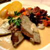 Tafelspitz mit Karotten-Lauchgemüse und Salzkartoffeln