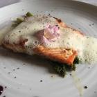 Foto zu Ristorante Locoselli: 17.6.18/Sockeye-Wildlachs mit grünem Spargel und Weißweinschaum