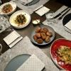 Vorspeisen auf dem Tisch