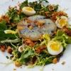 Kohlrabi im Salatbett mit Wachtelei