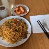 gebratene Nudeln mit Rindfleisch Bulgogi & Kimchi