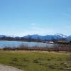 Blick über den See vom Gasthof
