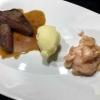 US-Steakhüfte - Gewürzjus - Spitzkohlsalat - Wasabi-Kartoffelstampf