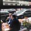 Blick durchs Fenster auf die Elaßstraße