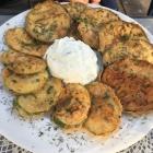 Foto zu Alexandros Taverne: 15.6.18 / frittierte Auberginen und Zucchini
