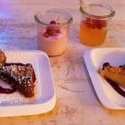 Foto zu Trüffelschwein: Früchte Espuma/Prosecco Gelee/Double Fudge Brownie/Double Fudge Blondie