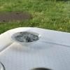angezündetes Kaffeemehl vertreibt die Wespen am Tisch