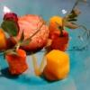 Das nenn ich Suppen-Einlage: Jakobsmuschel, Mango, KAROTTEN-Marzipan (Fantastico!)