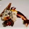 Dolcelatte mit Honignüssen, Früchtekörnerbrot, Oliven-Pflaumenmus, Mangocoulis