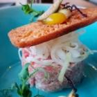 Foto zu High Kitchen: Kalbstatar Fenchel Yuzu