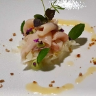 Foto zu High Kitchen: Kingfish, kandierter Ingwer, marinierter Fenchel, Kalamansi-Auszug, Basilikum-Mayo