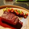 Bürgermeisterstück vom US-Beef, Papaya, Bohnen, Masala