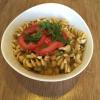 Arabisches Auberginen-Curry (auf meinen Wunsch mit Pasta statt Reis)
