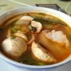 kleine Tom Yam Suppe mit Garnelen