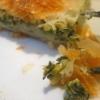 Pita mit Spinat und Käse