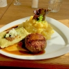 Maultasche, Fleischküchle, Kartoffelsalat