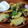 Bratkartoffeln mit Knoblauchdipp