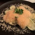 Foto zu Echtzeit: 13.3.20 Zucchini Auberginen Tagliata mit Parmesan Schaum