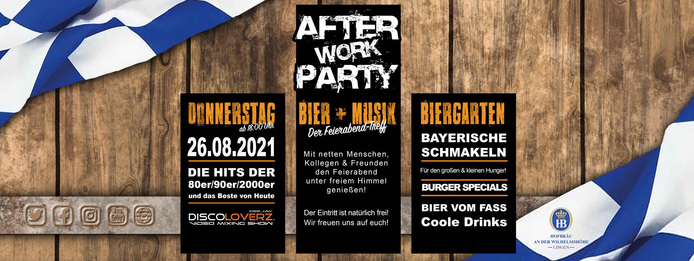 After Work Party • Hofbräugarten Lingen
