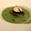 Kartoffel-Lauch-Suppe mit Royale vom Périgord-Trüffel