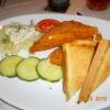 gebackener Käse mit Tartar-Sauce