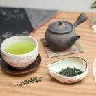 Foto zu Teehaus im Japanischen Bonsaigarten: grüner Tee