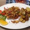 Schnitzel mit Pfifferlingen & Speck und Bratkartoffeln
