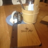 Tischdeko + Speisekarte