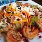 Foto zu Weinromantikhotel Richtershof: 01.11.16: Richtershof-Salat mit gebratenen Gambas