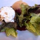 Foto zu Weinromantikhotel Richtershof: 01.11.16: Ziegenfrischkäse vom Eifeler Vulkanhof im Zucchinimantel