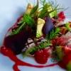 Schwertfisch-Ceviche mit Johannisbeeren-Vinaigrette
