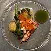 Hummer mit Sauerampfer, Crème Fraîche-Mousse und Saiblingskaviar