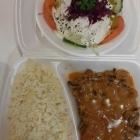 Foto zu By Jemys Döner & Pizza Haus: Putenschnitzel in Champignon-Rahmsoße  mit Reis + Beilagensalat