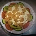Foto zu By Jemys Döner & Pizza Haus: Krabbensalat mit Rot- und Weißkraut, grüner Salat, Tomaten, Gurken, Peperoni