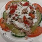 Foto zu By Jemys Döner & Pizza Haus: Nizza Salat mit Thunfisch, mit Rot- und Weißkraut, grüner Salat, Tomaten, Gurken, Zwiebeln, Peperoni