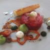 Irish Hereford Prime Beef Tatar – geschmolzene Tomate – Avocado